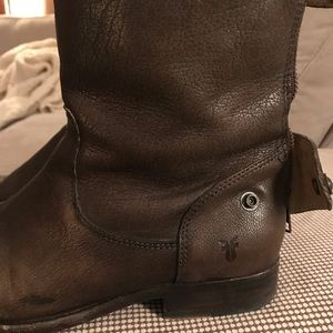 Frye Melissa Button Back Zip Short Boot